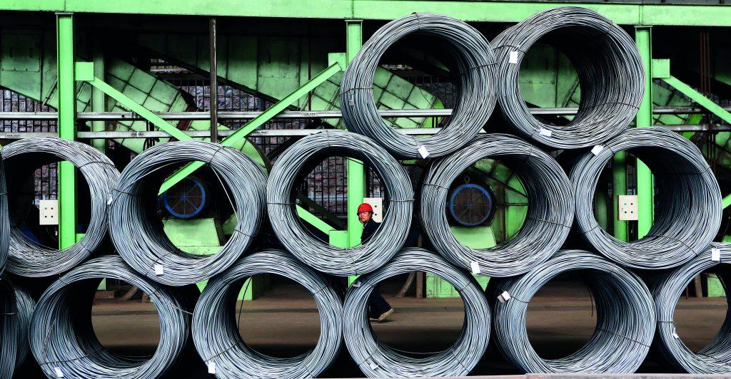 Instalações da Yukun Iron and Steel na cidade de Yuxi, Província de Yunnan. Yunnan vem diminuido a sobrecapacidade e realizando um upgrade de suas companhias de ferro e aço